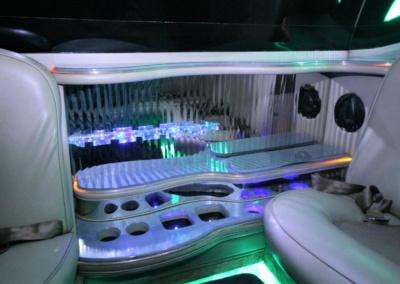 2008 Cadillac Escalade SUV Limo Interior Bar