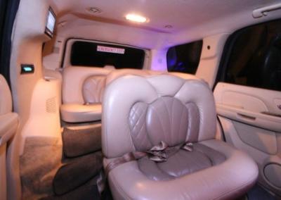 2008 Cadillac Escalade SUV Limo Interior Rear Jump Seat